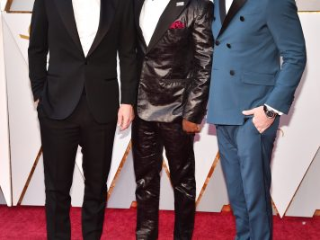 HOLLYWOOD, CA - MARCH 04:  (L-R) Jason Clarke, Rob Morgan and Garrett Hedlund attend the 90th Annual Academy Awards at Hollywood & Highland Center on March 4, 2018 in Hollywood, California.  (Photo by Kevin Mazur/WireImage)